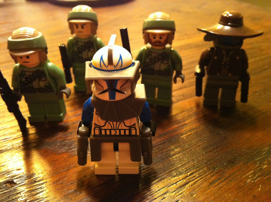 LEGO Captain Rex, Cad Bane, Rebel Endor Troopers