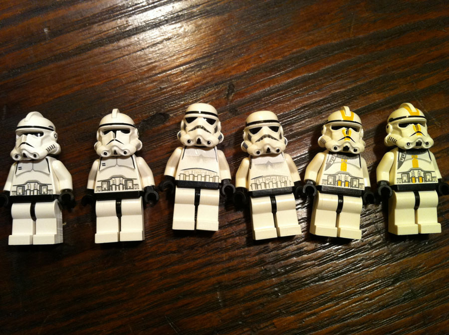 LEGO Star Wars Stormtroopers and Clone Troopers