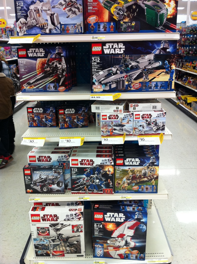 Star Wars LEGO on sale at Target