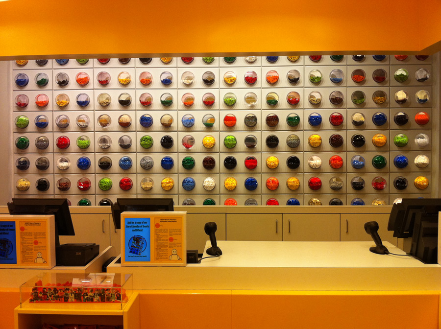 LEGO Store Pick a Brick Wall