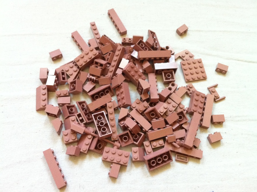 Sand Red LEGO Bricks