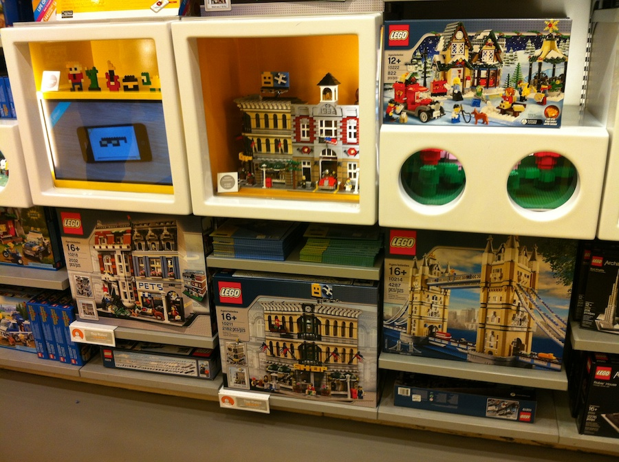Empty Shelves at LEGO Store and Toys R Us