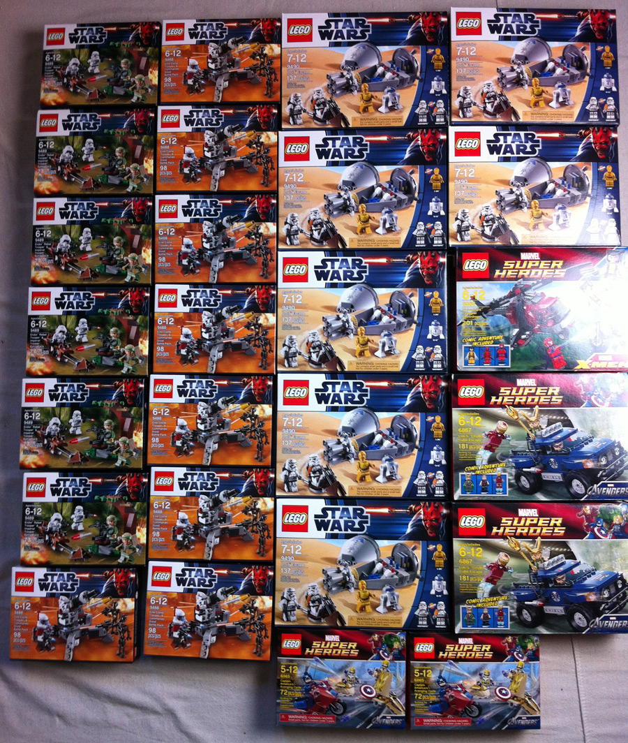 LEGO Star Wars battle packs and Super Heroes sets