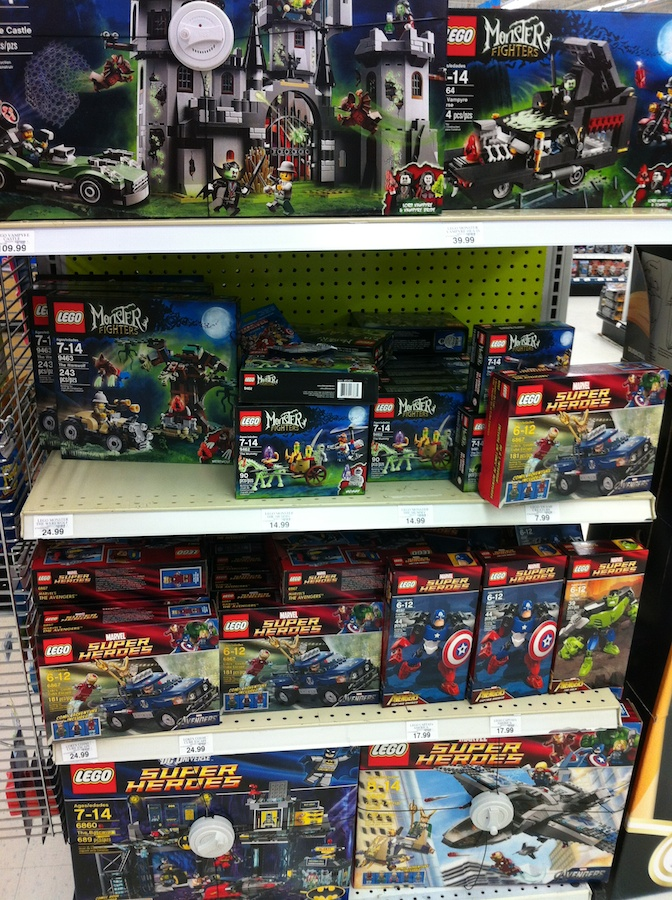 LEGO at Toys R Us, Early Summer 2012
